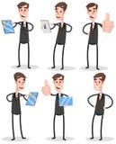 Homem de negócios liso ajustado With Tablet ilustração stock
