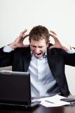 Homem de negócios louco Imagem de Stock Royalty Free