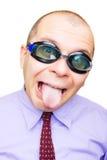 Homem de negócios louco fotos de stock royalty free