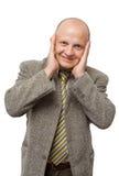 Homem de negócios louco imagens de stock royalty free