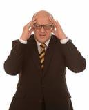 Homem de negócios maduro forçado Imagens de Stock Royalty Free