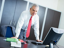 Homem de negócios maduro no escritório Fotografia de Stock