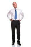 Homem de negócios maduro que boceja fotos de stock royalty free
