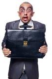 Homem de negócios mal batido Imagem de Stock