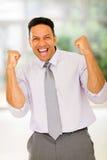 Homem de negócios meados de entusiasmado da idade Imagens de Stock Royalty Free