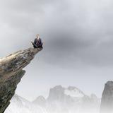 Homem de negócios Meditating Fotos de Stock Royalty Free