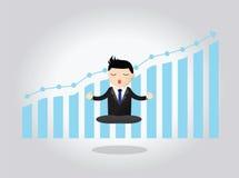 Homem de negócios meditativo Concept Imagem de Stock Royalty Free