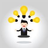 Homem de negócios meditativo Concept Foto de Stock