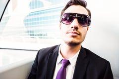 Homem de negócios In The Metro Fotografia de Stock Royalty Free