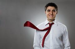 Homem de negócios na ação Fotos de Stock