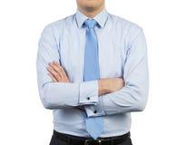 Homem de negócios na camisa Fotografia de Stock Royalty Free