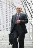 Homem de negócios na cidade fotos de stock