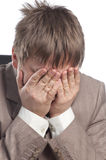 Homem de negócios na depressão Fotografia de Stock Royalty Free