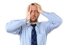 Homem de negócios na depressão Imagem de Stock Royalty Free