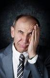 Homem de negócios na frustração Fotografia de Stock Royalty Free