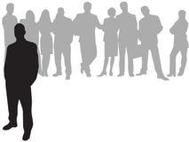 Homem de negócios na parte dianteira Imagens de Stock Royalty Free