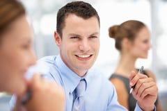 Homem de negócios na reunião Imagens de Stock Royalty Free