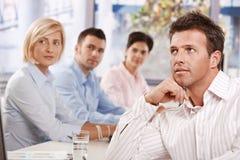 Homem de negócios na reunião foto de stock