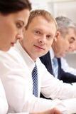 Homem de negócios na reunião Fotos de Stock Royalty Free