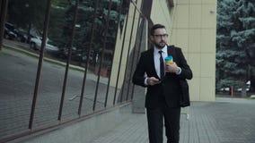 Homem de negócios na rua Foto de Stock