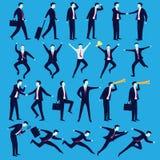 Homem de negócios na variação da pose Fotos de Stock Royalty Free