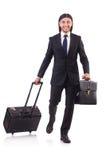 Homem de negócios na viagem de negócios Fotografia de Stock Royalty Free