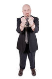 Homem de negócios nas algemas Imagem de Stock