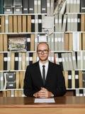Homem de negócios Nerdy Imagem de Stock Royalty Free
