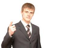 Homem de negócios no branco Imagens de Stock Royalty Free