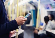 Homem de negócios no metro Foto de Stock Royalty Free