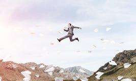 Homem de negócios no movimento Imagem de Stock Royalty Free