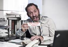 Homem de negócios no pânico Fotografia de Stock