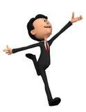 Homem de negócios no salto feliz Imagem de Stock Royalty Free