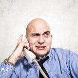 Homem de negócios no telefone Fotografia de Stock