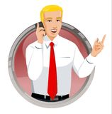 Homem de negócios no telefone Ilustração Stock