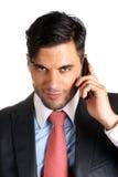 Homem de negócios no telemóvel Fotografia de Stock Royalty Free