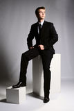 Homem de negócios no terno Imagem de Stock Royalty Free