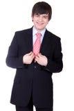 Homem de negócios no terno Imagens de Stock Royalty Free