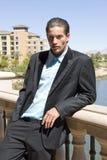 Homem de negócios no terno foto de stock royalty free
