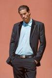 Homem de negócios no terno imagens de stock