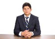 Homem de negócios no terno Fotografia de Stock