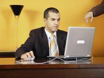 Homem de negócios no trabalho Imagem de Stock