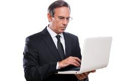 Homem de negócios no trabalho Foto de Stock Royalty Free