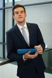 Homem de negócios With Notes Foto de Stock Royalty Free
