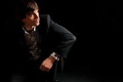 Homem de negócios novo à moda Fotografia de Stock Royalty Free