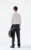 Homem de negócios novo assegurado irreconhecível Imagens de Stock
