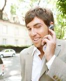 Homem de negócios com grupo da orelha. Imagem de Stock