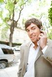 Homem de negócios com grupo da orelha. Fotos de Stock