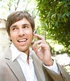 Homem de negócios com grupo da orelha. imagem de stock royalty free