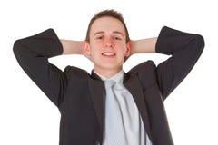 Homem de negócios novo bem sucedido Foto de Stock